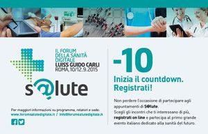 S@LUTE: DAL 10 AL 12 SETTEMBRE PRESSO IL CAMPUS LUISS DI ROMA. APERTE LE REGISTRAZIONI ONLINE