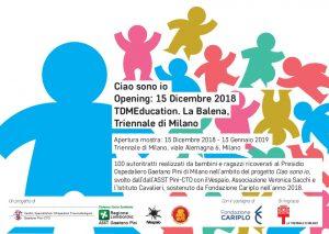 """Inaugurazione mostra """"Ciao sono io"""" - 15 Dicembre 2018 presso La Triennale di Milano"""